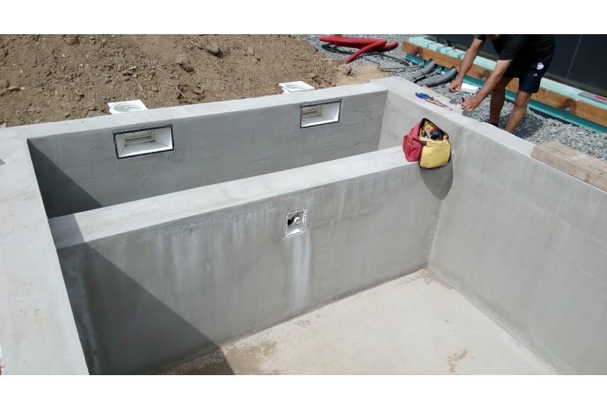 Stavební příprava bazénu