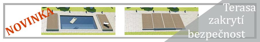 Obytná terasa na zakrytí bazénu